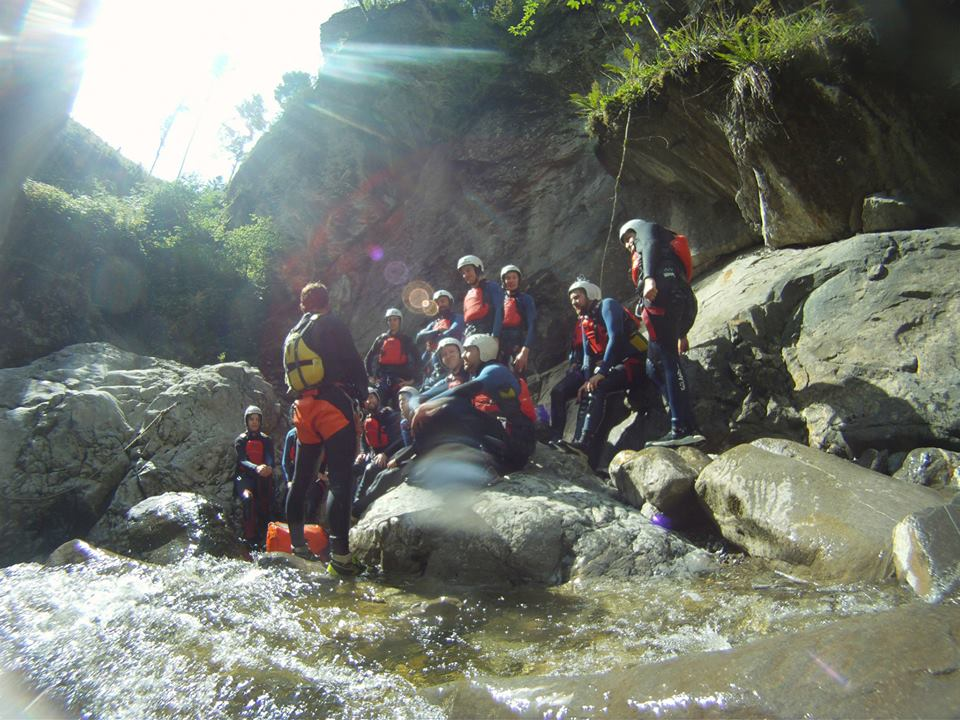 TrekkSoft team week canyoning