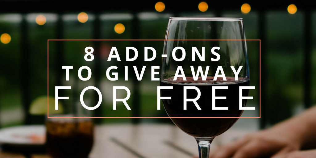 add-ons to give away
