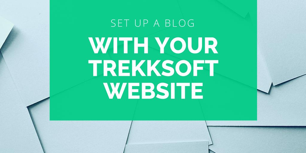 Set up a blog with your TrekkSoft website