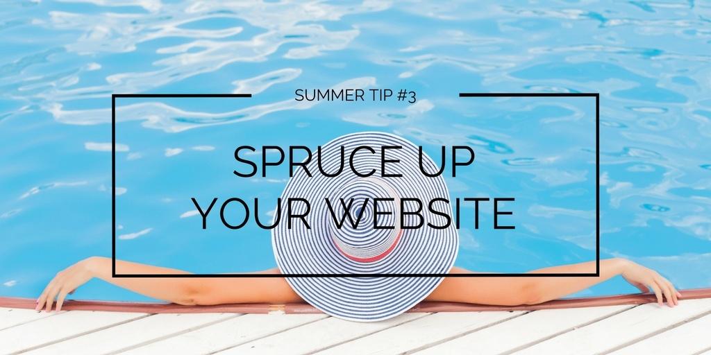 Summer tip #3 - website