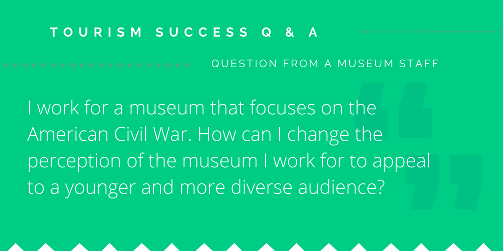 How can a museum appeal to a younger and more diverse market?