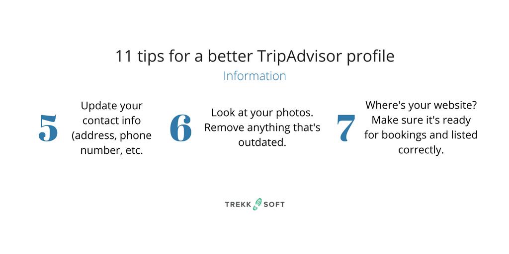 TripAdvisor tips