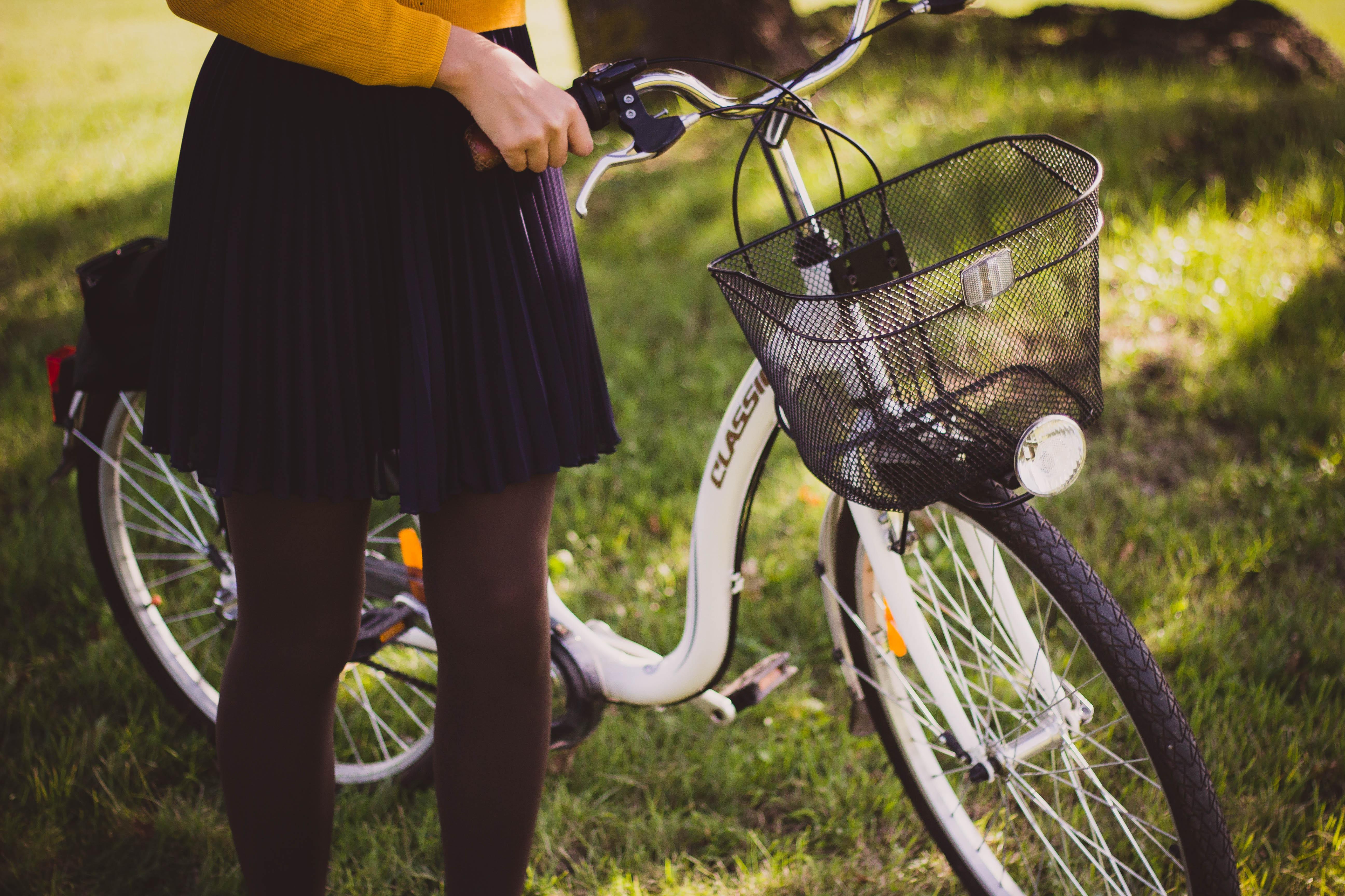 Girl on bike tour
