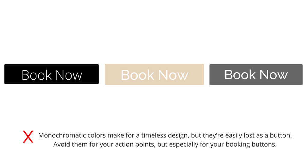 Book Now Button Examples