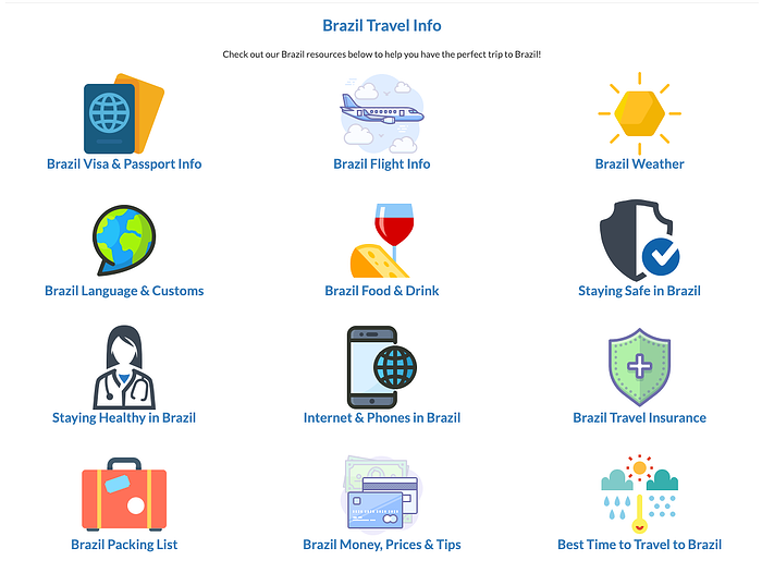 Brazil travel info