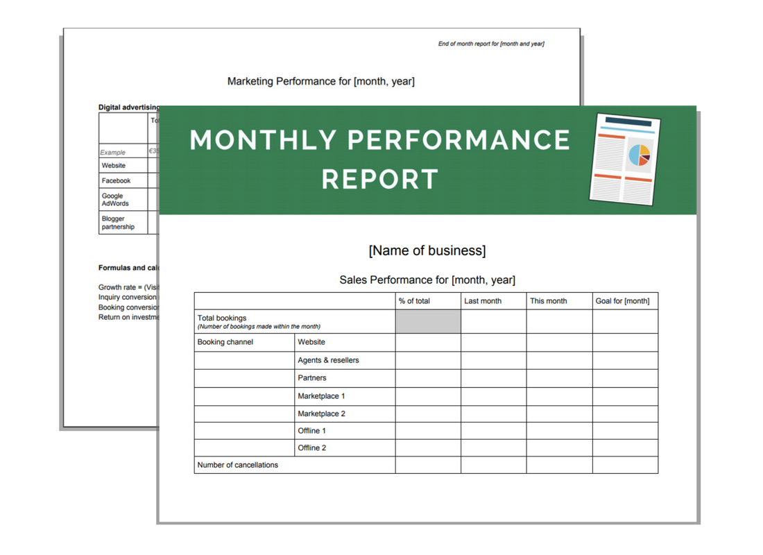 Performance report template for Flexible budget performance report template