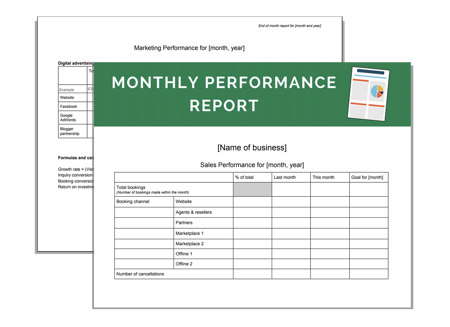 Download Your Business Resource | Monthly Performance Report Templates
