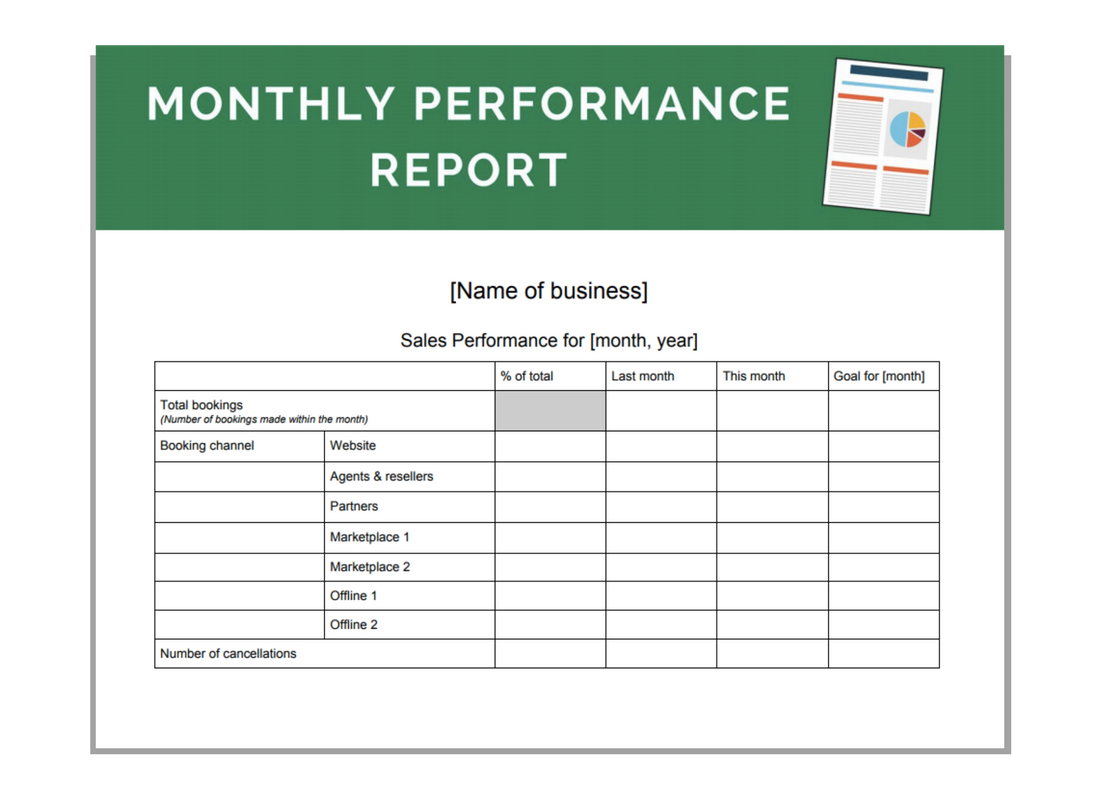 Click here to download your monthly performance report templates