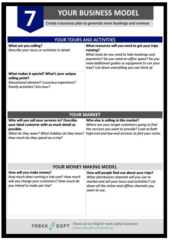 modelli di business plan tour operator incoming