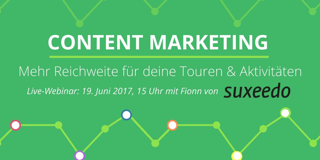 Content Marketing - mehr Reichweite für Touren- & Aktivitäten-Anbieter  Image
