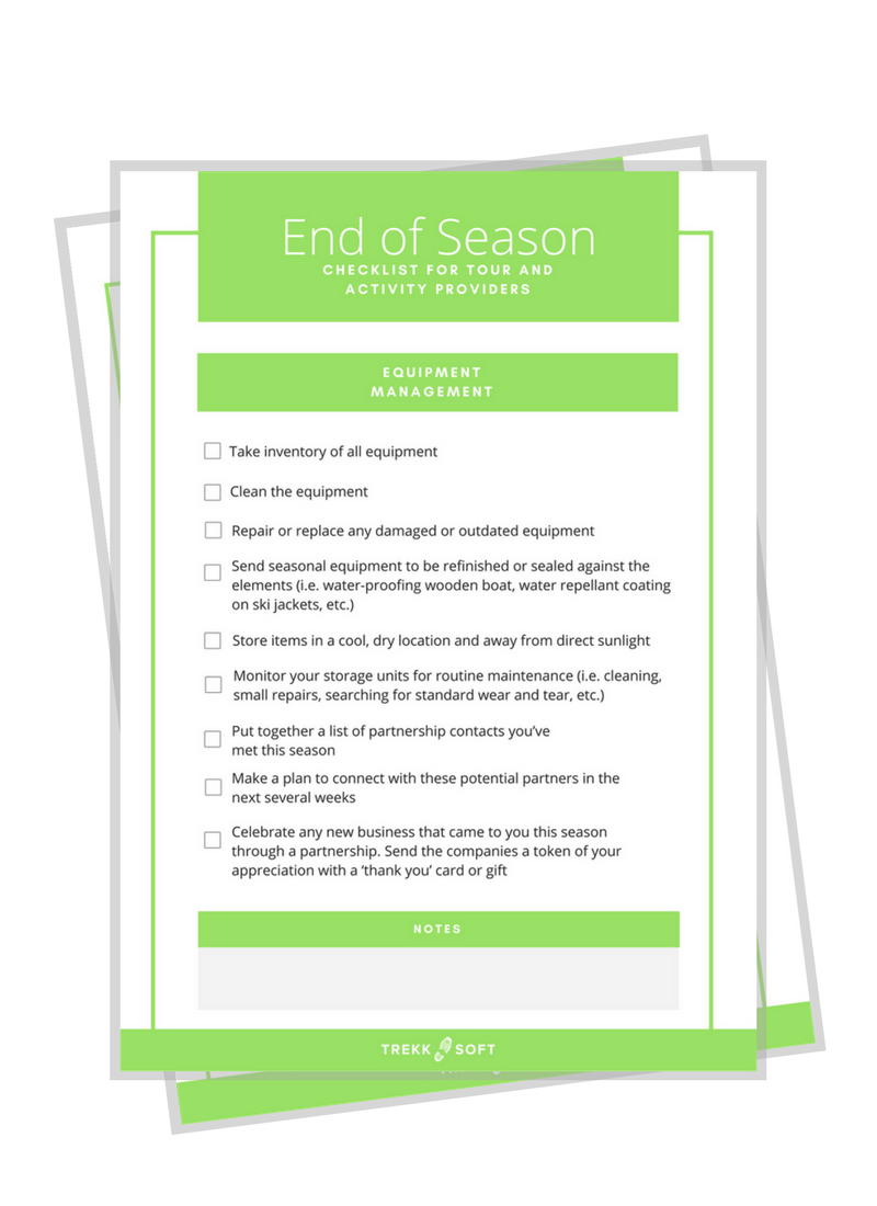 End of Season Checklist Image
