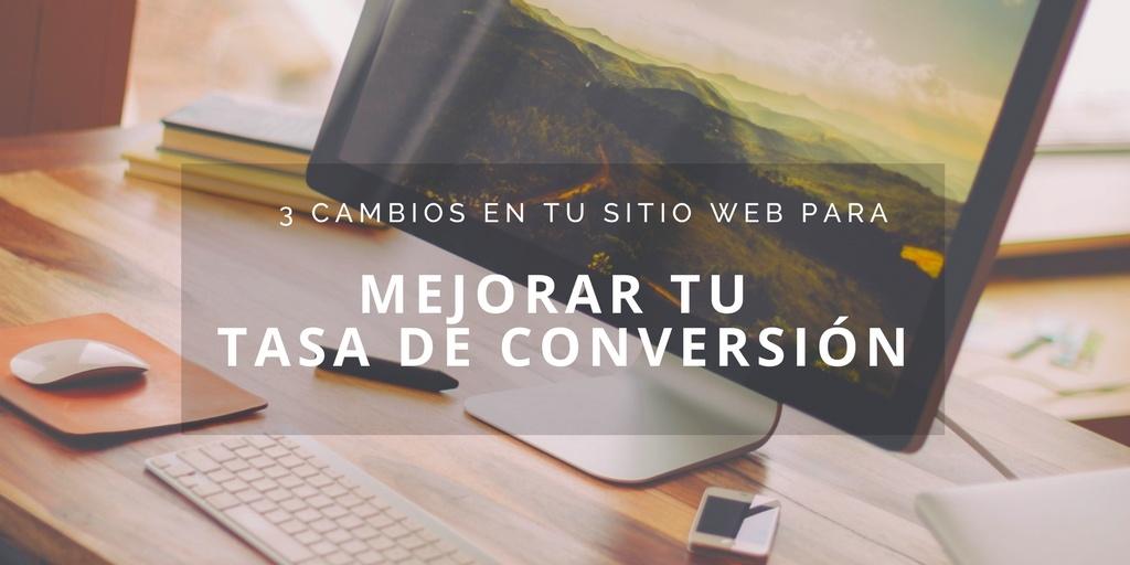 mejorar tasa de conversión sitio web