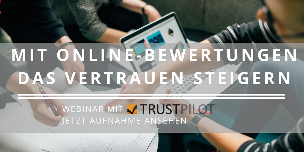 Aufnahme Webinar mit Trustpilot