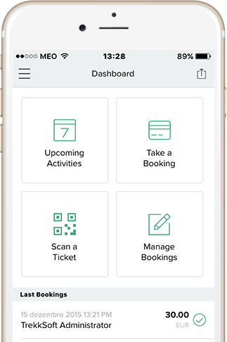 mobile-optimized booking system