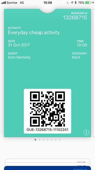 E-tickets esempio biglietto elettronico in trekksoft