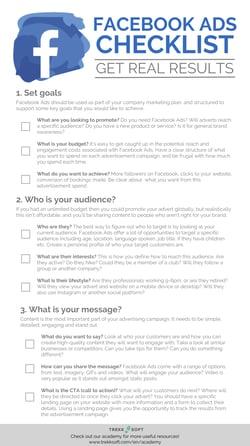EN Checklist Facebook Ads