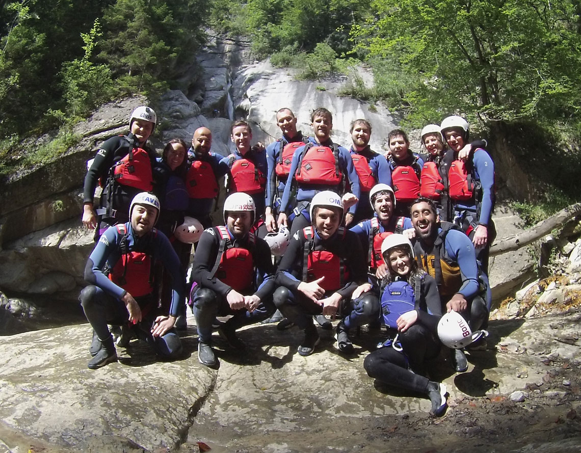 team canyoning