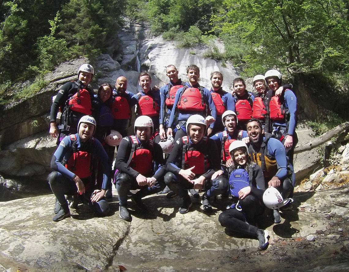 team canyoning
