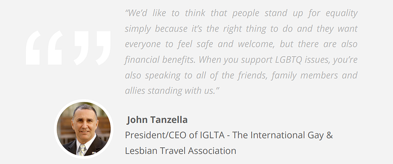 LGBTQ Travel Trends Quote