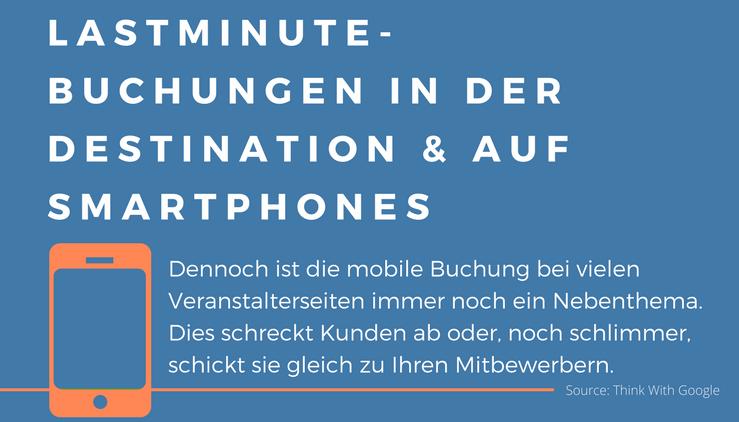 Lastminute-Buchungen über mobile Endgeräte und direkt in der Region