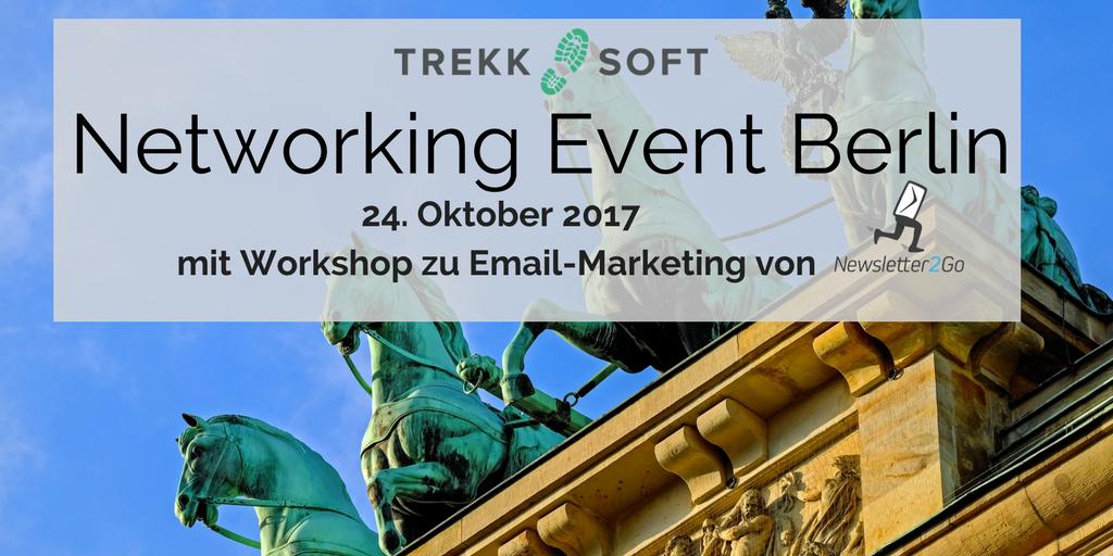 Networking Event Berlin TrekkSoft Newsletter2Go