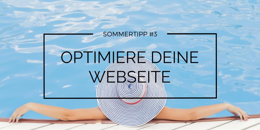 Optimiere deine Webseite für die Hochsaison