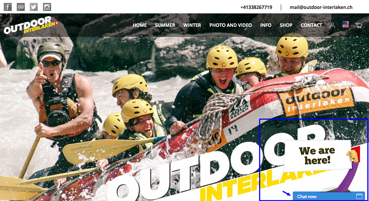 Outdoor Interlaken Chat Tool Webseite