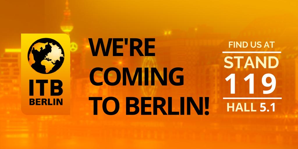 We'll be at ITB Berlin 2018!