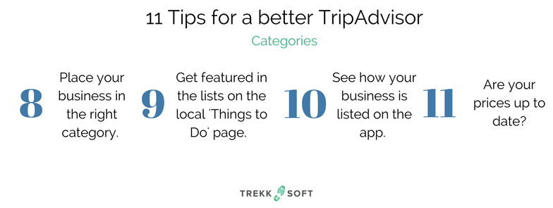 TripAdvisor tips from TrekkSoft