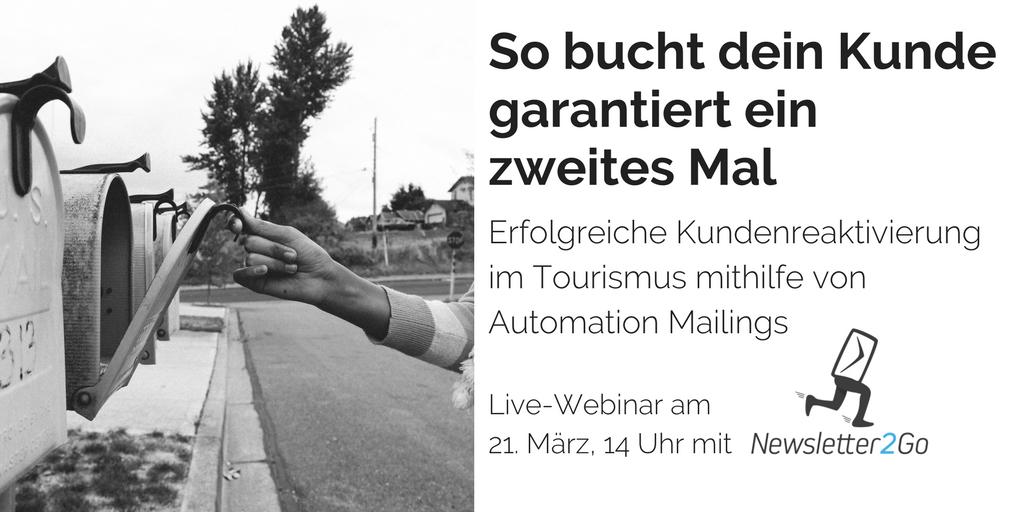 So bucht dein Kunde garantiert ein zweites Mal - Automation Mailings!  Image