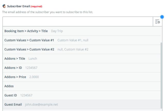 Zapier integrazione Mailchimp e TrekkSoft