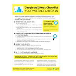 Weekly Google AdWords Checklist Image
