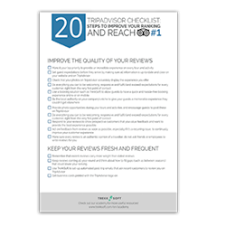 20-Schritte TripAdvisor Ranking zu verbessern  Image