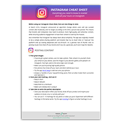 Instagram Cheat Sheet Image