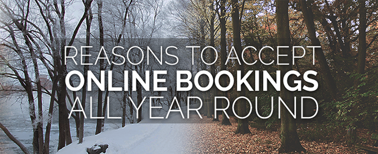 Accept bookings all year round