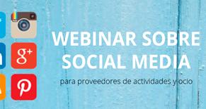 Webinar sobre Social Media para proveedores de actividades y ocio Image