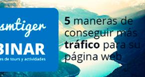 Webinar sobre como conseguir más tráfico en su página web Image