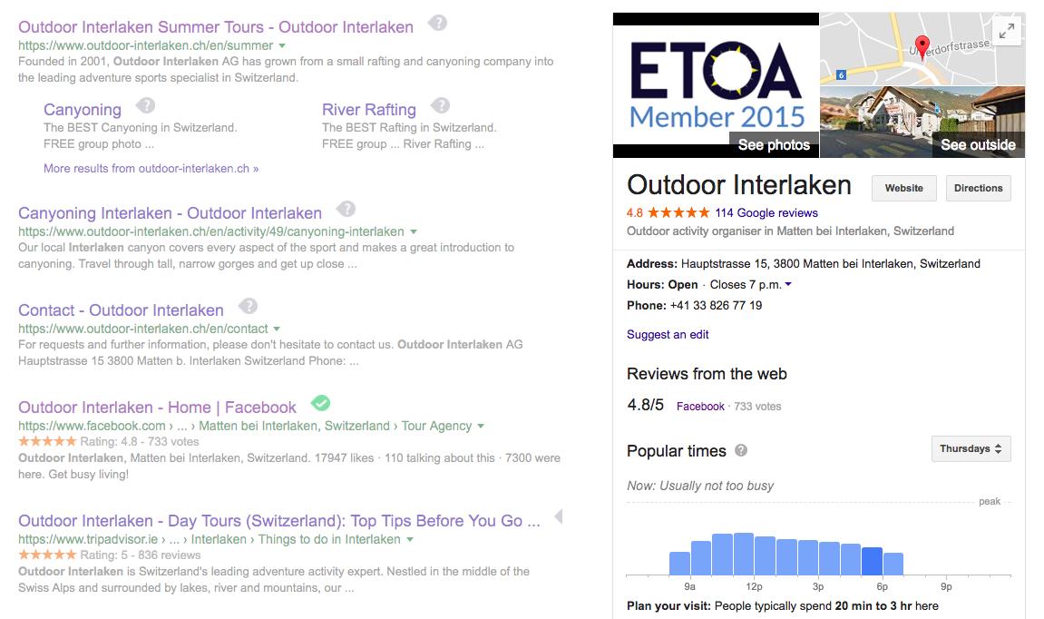 Outdoor Interlaken Google My Business copy