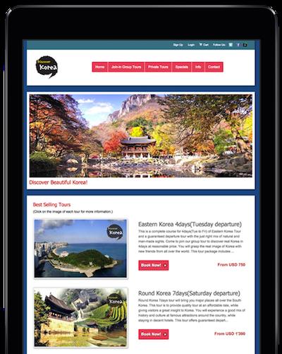 home website ipad