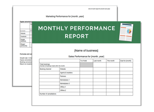download your business resource monthly performance report templates